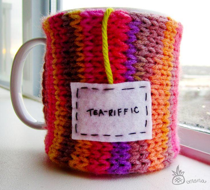 "Onana Snug Mug Cozy || ""Tea-riffic"" #SnugMug #SnugSelfie #MugCozy #Tea"