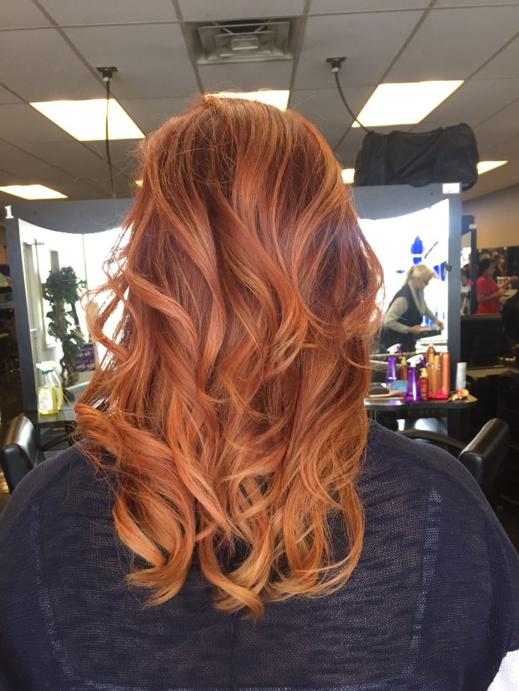 Auburn and copper balayage