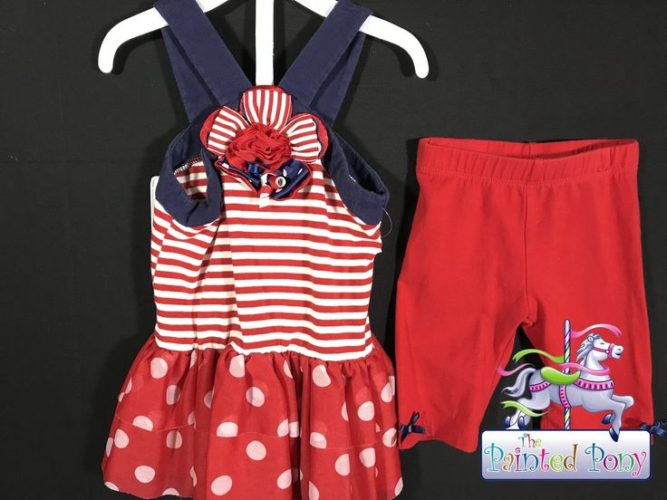 Sweet Emily Rose two piece set, for size 3 T, red white and blue, $9.99