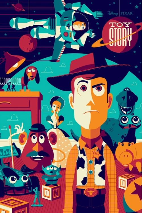 retro toy story poster