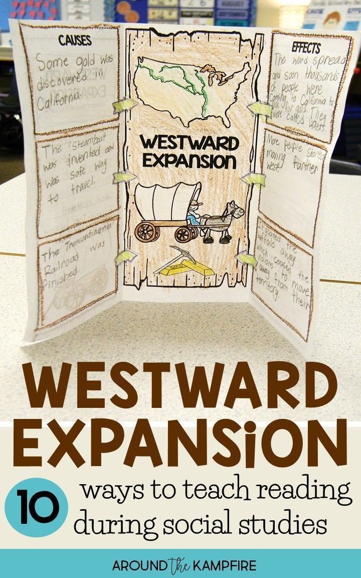10 Ways To Teach Westward Expansion During Your Literacy Block Are You One Of The 4th Grade Social Studies 3rd Grade Social Studies Social Studies Worksheets