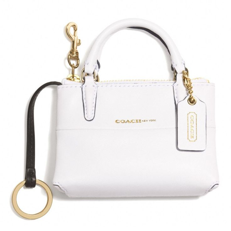Coach Keychain.  It's literally a mini Coach bag! <3