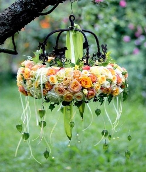 hanging floral wreath