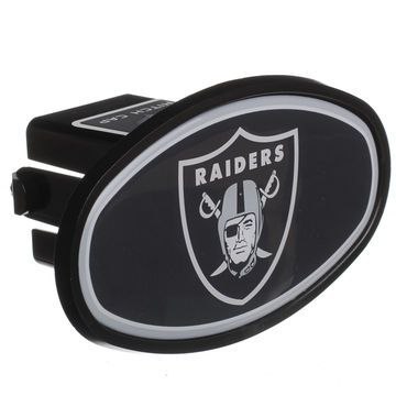 """Oakland Raiders Logo Oval Fixed 2"""" Hitch Cover"""