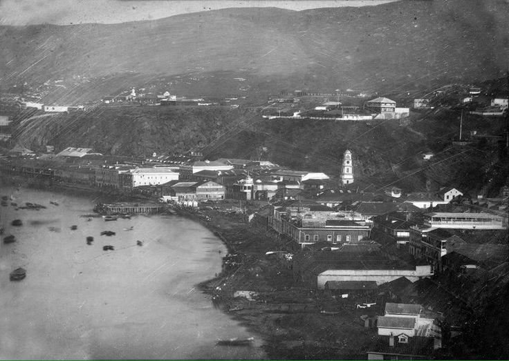 Puerto de #Valparaíso en el año 1852