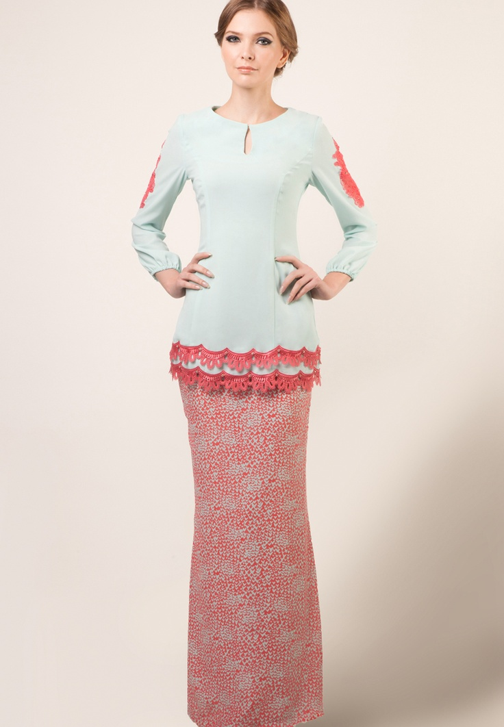 Jules by Jovian Mandagie. Love the colour combo and the scallop hems :)