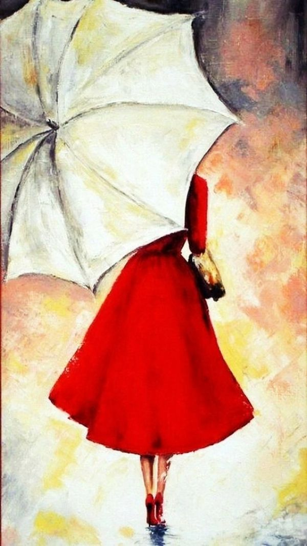 70 Easy And Beautiful Canvas Painting Ideas For Beginners To Try Umbrella Painting Painting Canvas Painting