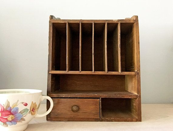 Vintage French Wood Wall Mount Desktop Mail Organizer Mail Office Slot Cubby Hole Small Vintage Wooden Desk Top Organizer Mai Kids Room Rug Kids Room Wood Wall