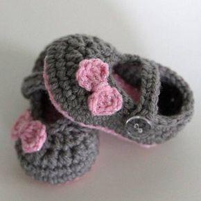 zapatos tejidos   Moda para bebés » Hermosos zapatos tejidos para bebés 2