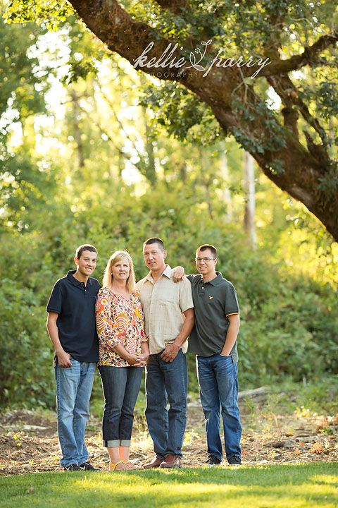 Family with Teenage Boys: Salem, OR Family Photographer