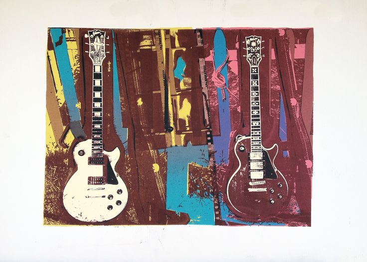 """""""Tools of the Trade"""" by Sandy Lawson (c) 1992. artist prooof. silkscreen on paper. 21"""" x 32""""."""