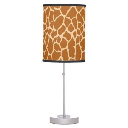 Wild safari giraffe skin print brown desk lamp - patterns pattern special unique design gift idea diy