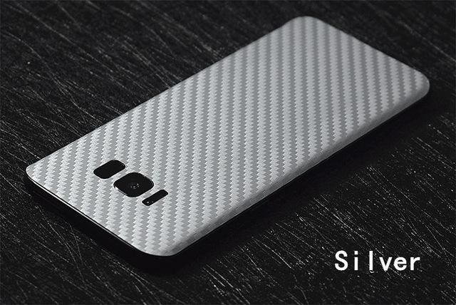 New 3D Carbon Fiber Skins Protective Film Wrap Skin Cellphone back paste Protective Film Sticker For Samsung Galaxy S8/S8plus