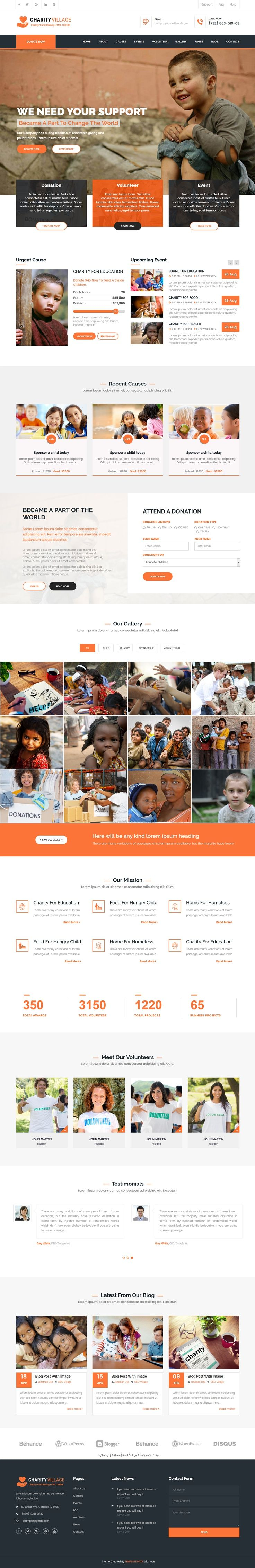 Charity Village is a 2 in 1 #Bootstrap HTML template created for non-profit #websites, like social program, NGO, Donation and #fundraising download now➝ https://themeforest.net/item/charity-village-responsive-html-template-for-charity-fund-raising/16833385?ref=Datasata