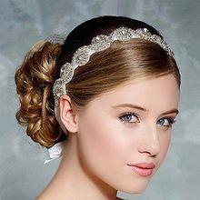 esküvői fejpánt haj zenekar fejpánt Wedding Menyasszonyi Hair kiegészítők Női fejdísz Fejfedők vintage hajpánt (Kína (szárazföld))