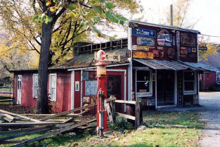 Old Gas Station at Clifton Mill ~ Clifton OH