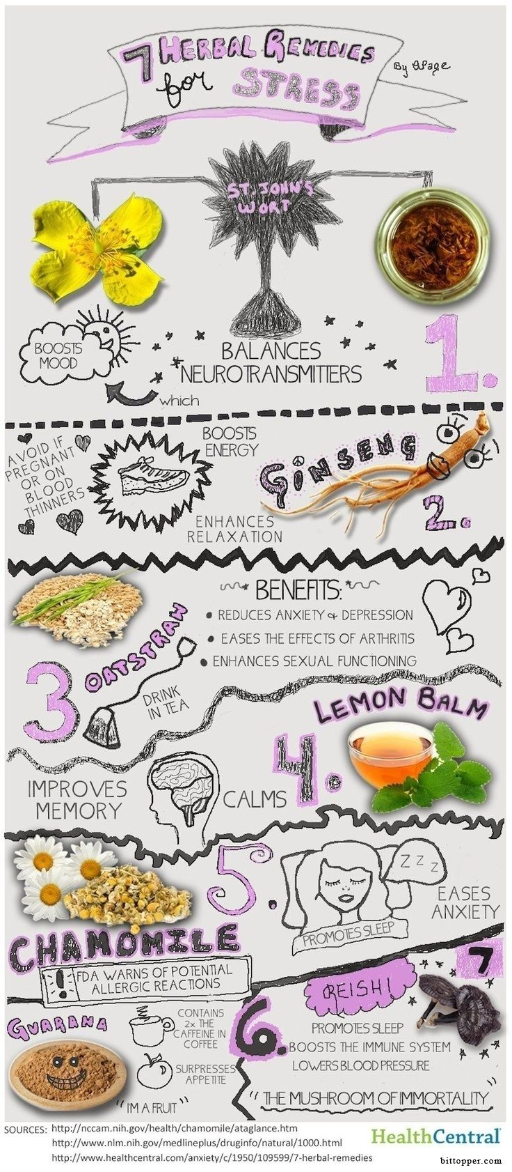 7 Herbal Remedies For Stress Infographic!