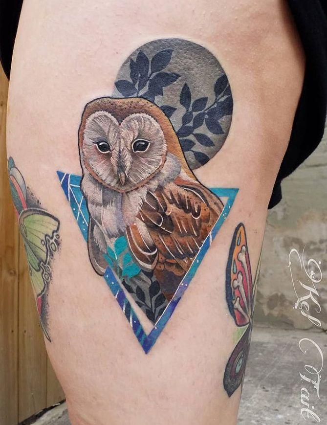 Kel Tait Owl Tattoo With Images Tattoos Owl Tattoo