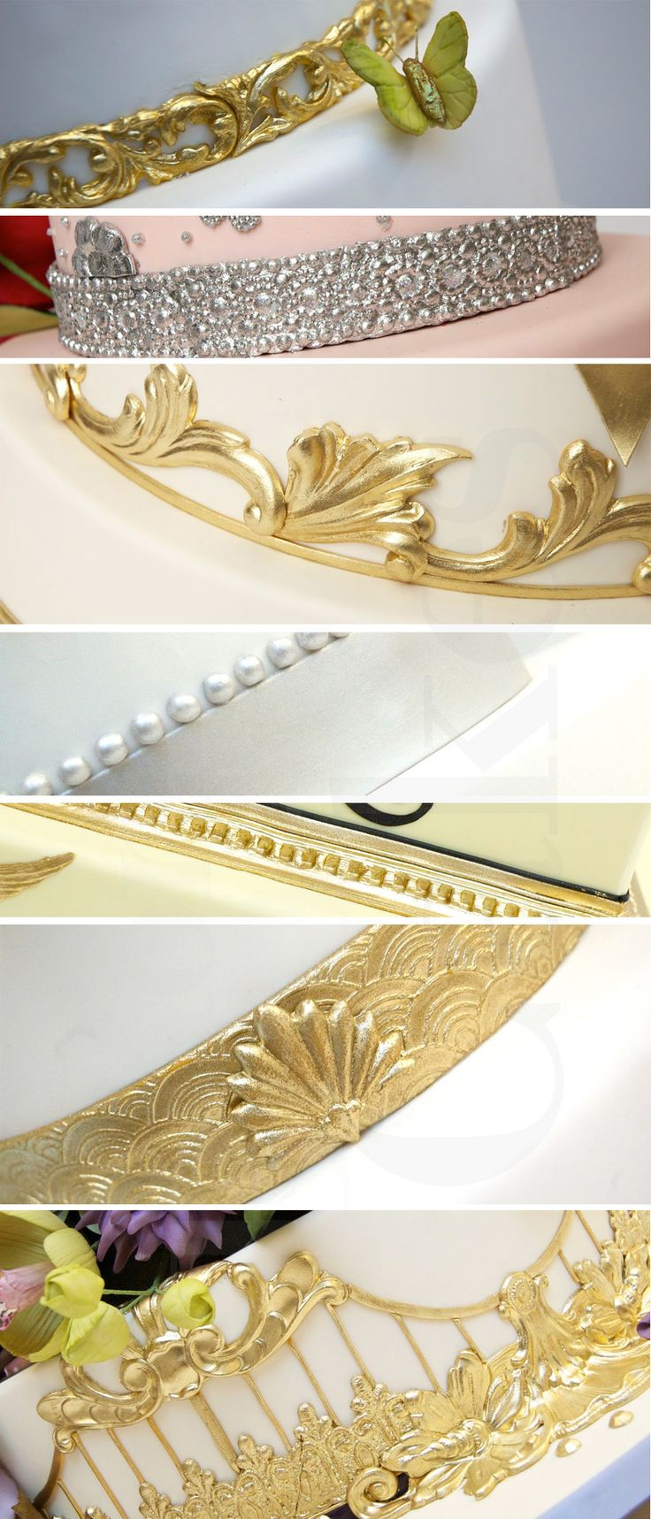 Gold and silver details - Ron Ben Israel cake
