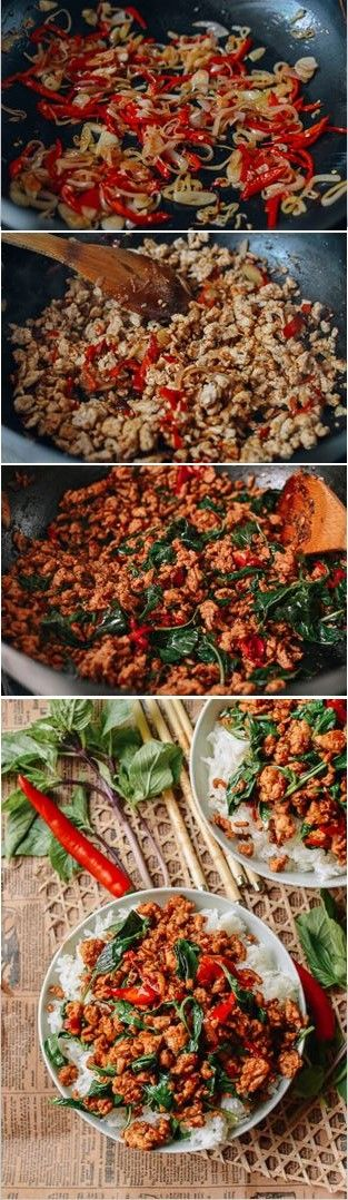 10 Minute Thai Basil Chicken recipe by the Woks of Life