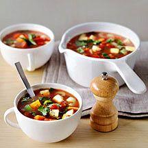 Recipe for vegetable soup, 0 pp - written in Dutch - Groentesoep met ProPoints waarde 0