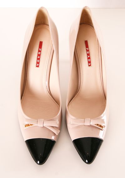 PRADA HEELS.  Love to find a less expensive version of these. Two toned and cute now