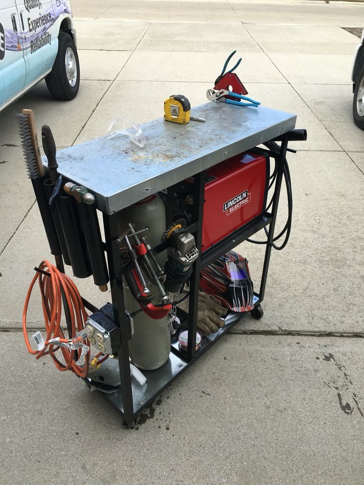 Mig welding cart    Lincoln electric