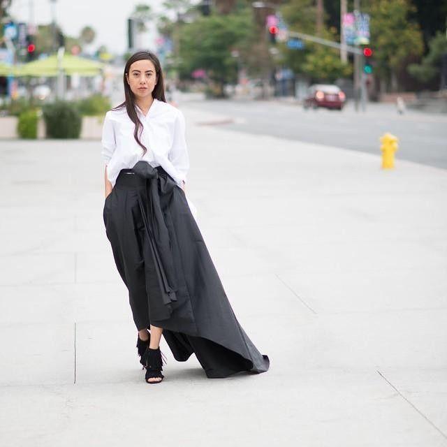 Look#1 Black long dress