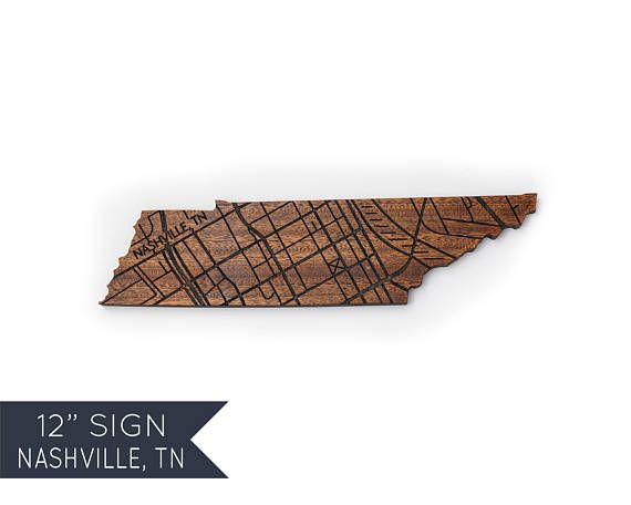Nashville Tennessee Wood Sign Personalized Wood Map Art Anniversary Gifts for Boyfriend Long Distance Friend Gift Ideas Moving Gift for Boss