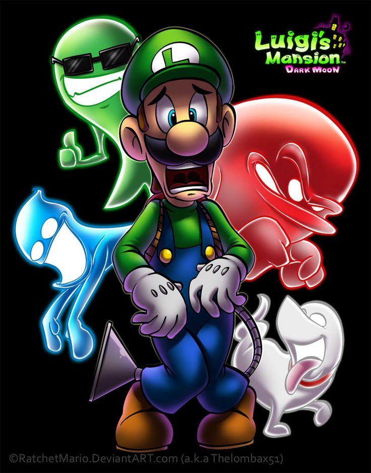 Luigi's Mansion - Dark Moon by RatchetMario.deviantart.com on @deviantART