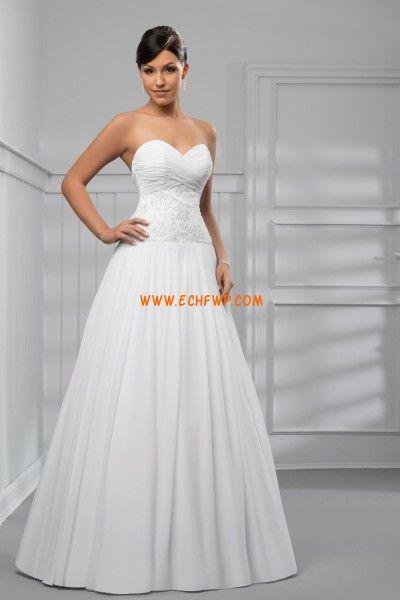 Hasta el Suelo Tallas pequeñas Sin Mangas Vestidos de novias 2012