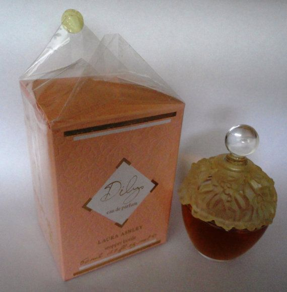 Vintage Laura Ashley Dilys 50ml eau de parfum stopper bottle