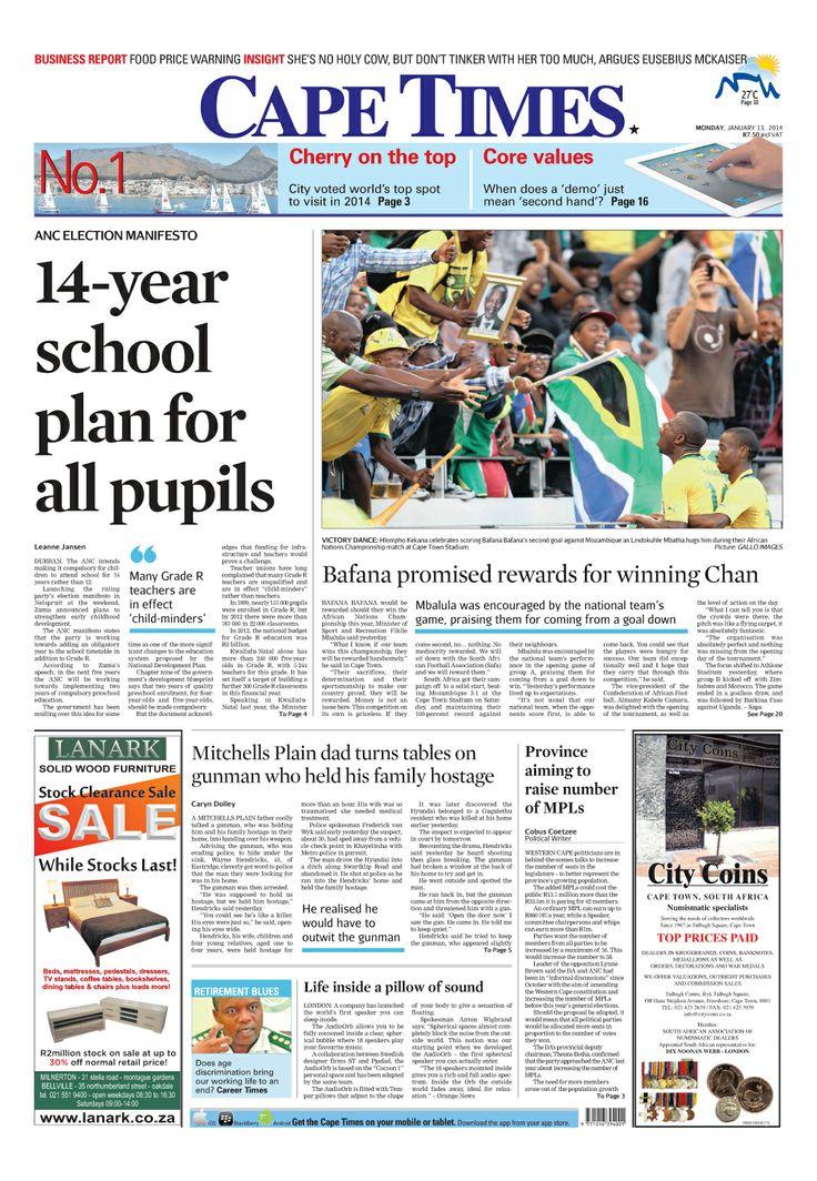 News making headlines: Bafana promised rewards for winning Chan