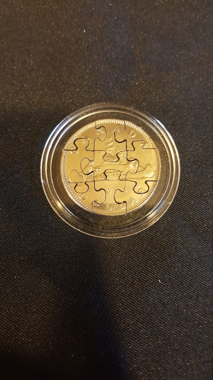 One Of A Kind Coin Cutting Coin Puzzle Canada Dollar 9 Piece Coin Jigsaw Puzzle by FireandIceCoinArt on Etsy