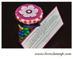 Stampin' UP! Abschiesgeschenk für Kindergarten Erzieherin mit Mixed Bunch