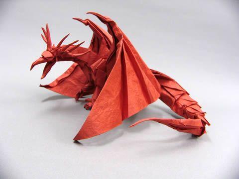 折り 折り紙:折り紙ドラゴンの作り方-jp.pinterest.com