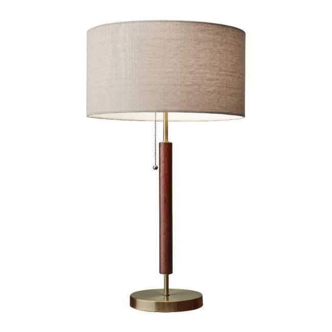 Hamilton Table Lamp By Adesso Corp 3376 15 In 2021 Brass Table Lamps Table Lamp Decorative Table Lamps