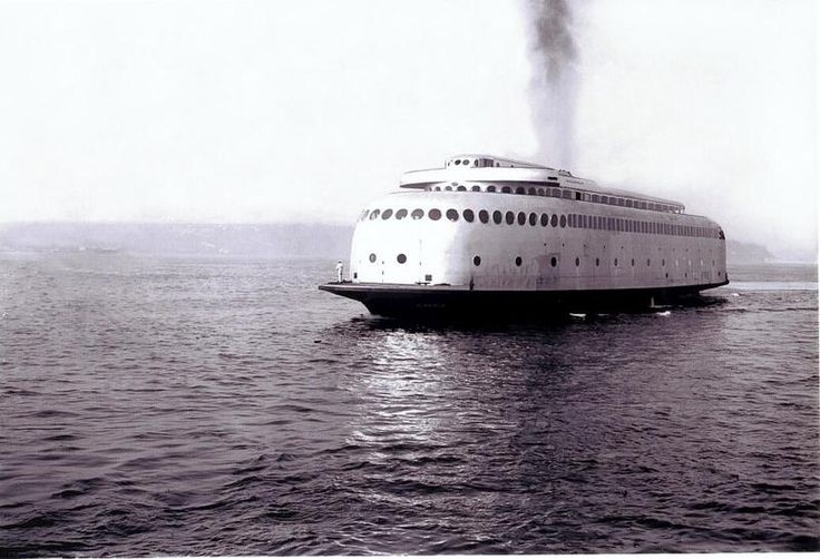 She is rusting away in a dock in Tacoma now, but once upon a time the Kalakala was renowned as the first aerodynamic art deco ferry in the world. The Washington State Ferry, built on the hull of another ship that burned down, plied the waters of Puget Sound from 1935 until 1967.