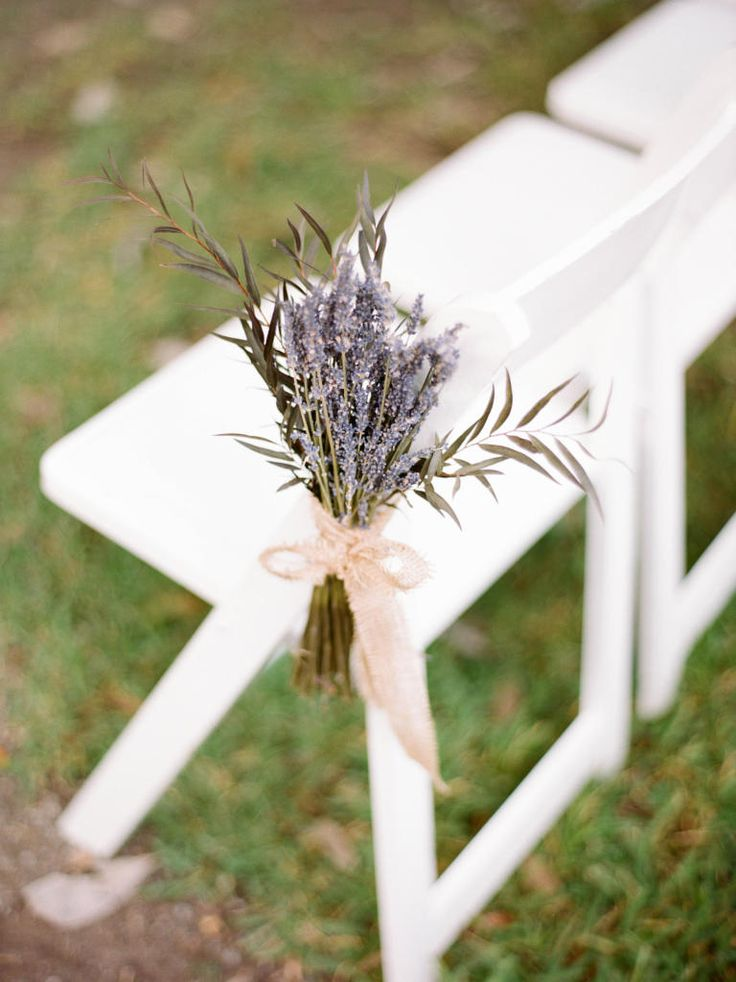 Think scent. Use lavender and perhaps mix with baby's breath  15 Ways to Personalize Your Wedding Ceremony | TheKnot.com