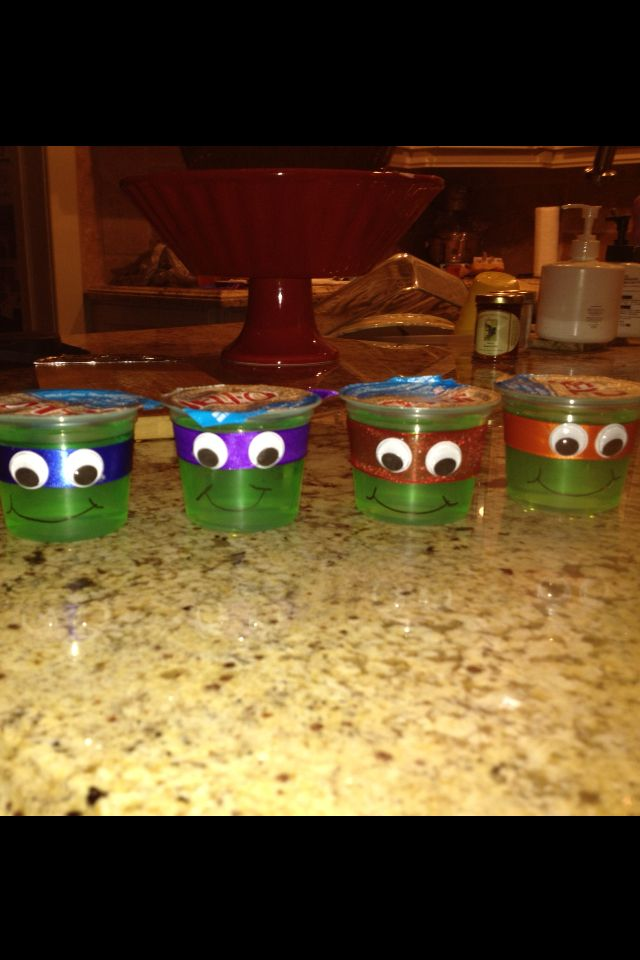 Ninja turtle snack ideas, perfect for birthdays or turning any boring snack into a fun snack for picky eaters