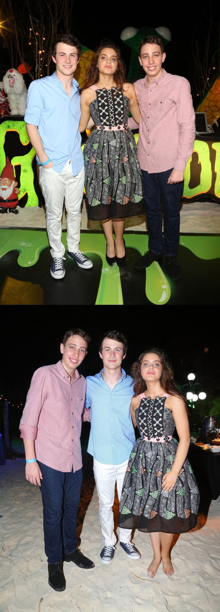 """Dylan Minnette, Odeya Rush and Ryan Lee at the """"Goosebumps"""" party during Summer Of Sony Pictures Ent at The Ritz-Carlton Cancun, Mexico on June 12, 2015"""
