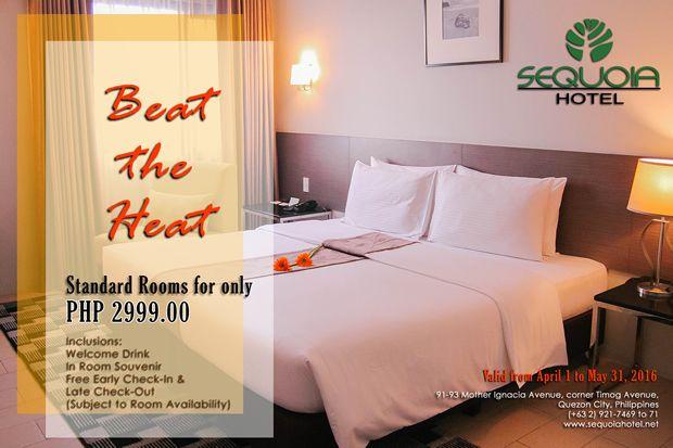 Sequoia Hotel Quezon City Promo - Beat the Heat