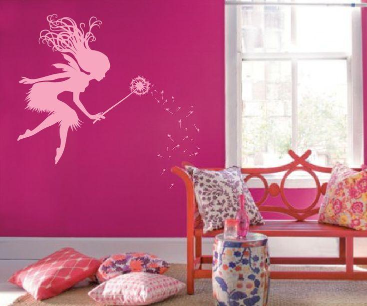 Fairy Dandelion Wand Wall Decal #1146