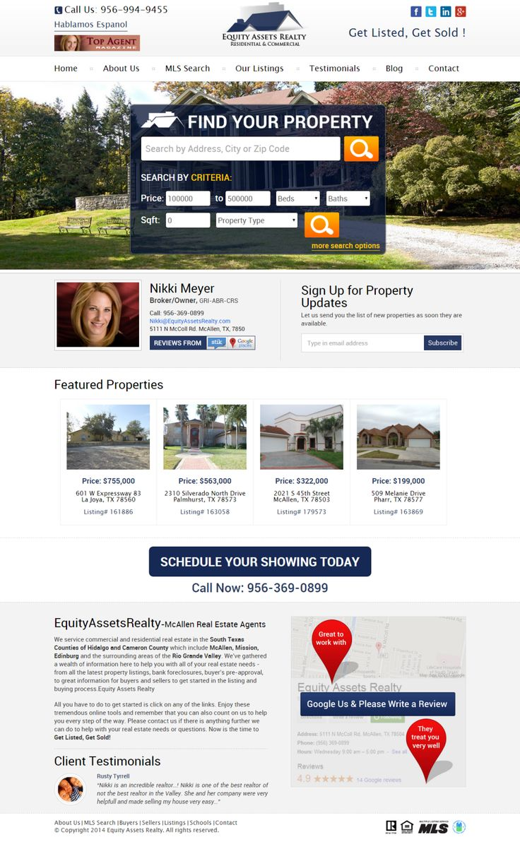 Buy new homes or lands for sale in mcallen texas for residential or commercial needs