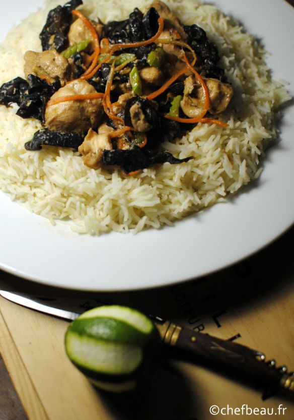 Poulet vapeur au gigembre et champignons noirs (S11)