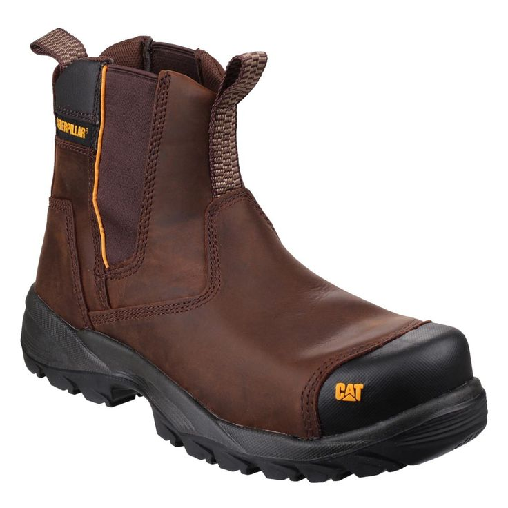 Caterpillar Propane Brown Leather S3 Mens Steel Toe Safety Dealer Boots