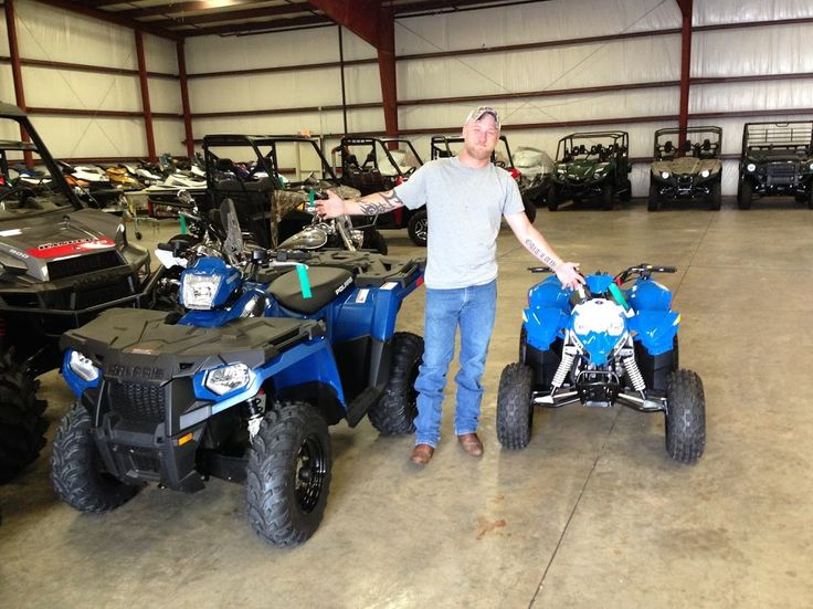 Thanks to Jerelyn Roberts from McComb MS for getting a 2014 Polaris Outlaw 90 and a 2015 Polaris Sportsman ETX T Hattiesburg Cycles