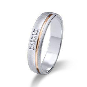 Wedding ring- Wedding band 18k or 9k solid rose and white gold.  www.niobejoyas.com Alianzas de boda en oro rosa y oro blanco.