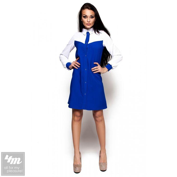 Платье Karree «Персея P1168M3769» (Электрик) http://lnk.al/4NeT  Платье-рубашка из слегка тянущейся костюмной ткани А-силуэта, зона декольте и рукава выполнены из белой слегка прозрачной ткани, низ рукавов собран манжетом из основной ткани, платье застегивается по всей длине кнопками золотистого цвета .  #платье #платья #платьемечты #платьевналичии #платьявналичии #платьекупить #платьевмногонебывает #платьемечта #платьенедорого #платьенакаждыйдень #платьянакаждыйдень #платьеонлайн…