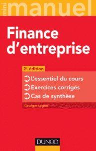 Georges Legros - Finance d'entreprise. - Agrandir l'image